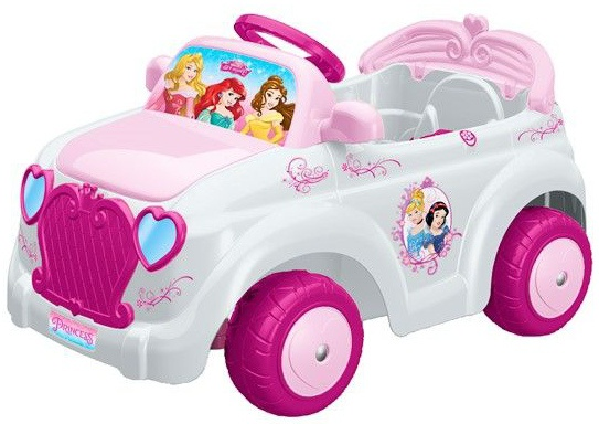 Feber Accuvoertuig auto Princess wit/roze 85 x 53 cm 6V