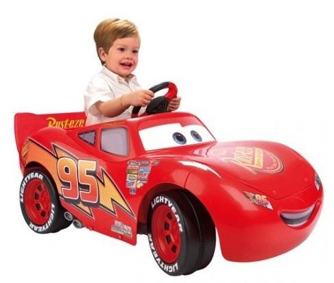 Feber Cars McQueen accuvoertuig 106 x 56 cm rood 6V