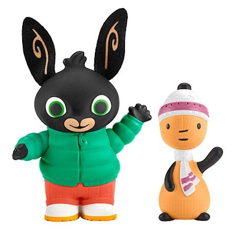 Fisher Price Bing speelfiguren Bing & Flop herfst 7 cm