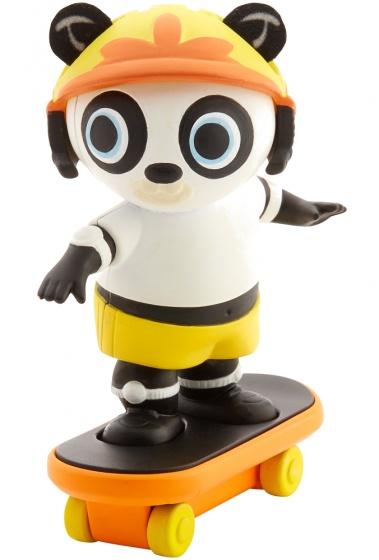 Fisher Price Bing speelfiguur skatende panda 7 cm
