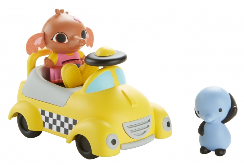 Fisher Price Bing Talkie Taxi auto 13 cm