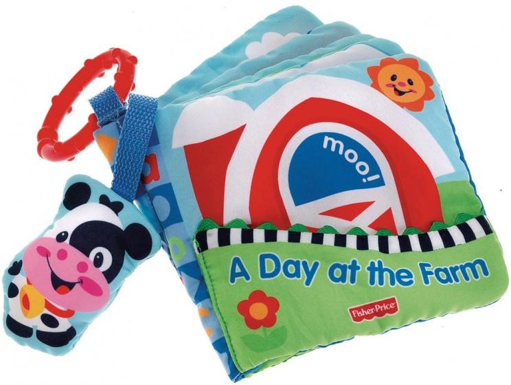 Fisher Price boerderijpret babyboekje pluche