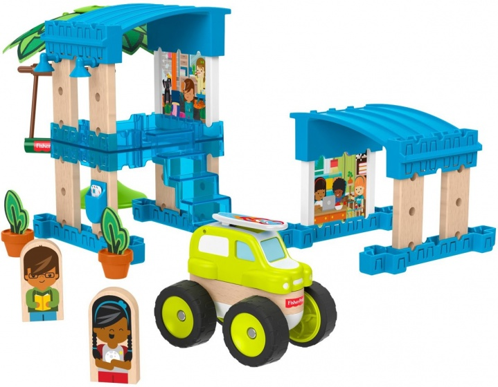 Fisher Price bouwpakket Wonder Makers Strandhuis hout 35 delig
