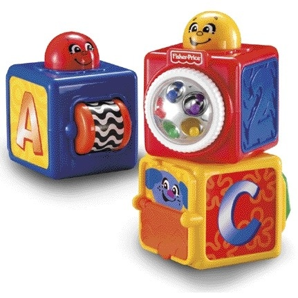 Fisher Price Brilliant Basics stapelblokken 3 delig