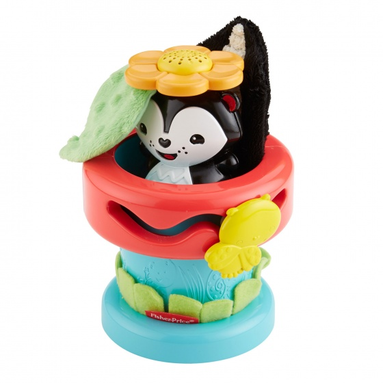 Fisher Price Kiekeboe stinkdier bloempot activity speelgoed