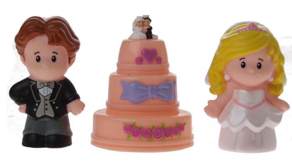 Fisher Price figuren Little People bruiloft 3 delig