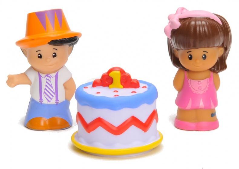 Fisher Price figuren Little People taart 3 delig