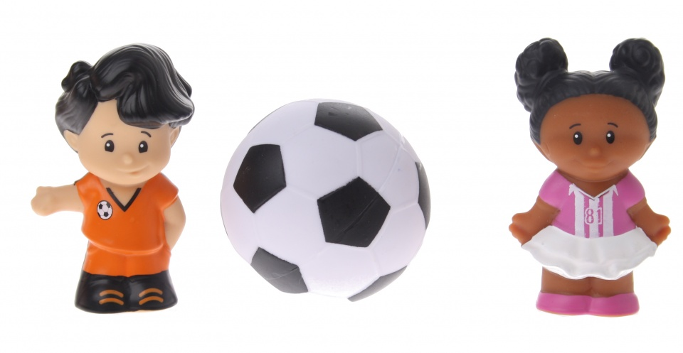Fisher Price figuren Little People voetbal 3 delig