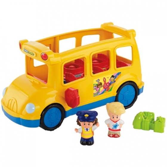 Fisher Price Little People Lil' Movers schoolbus geel 20 cm