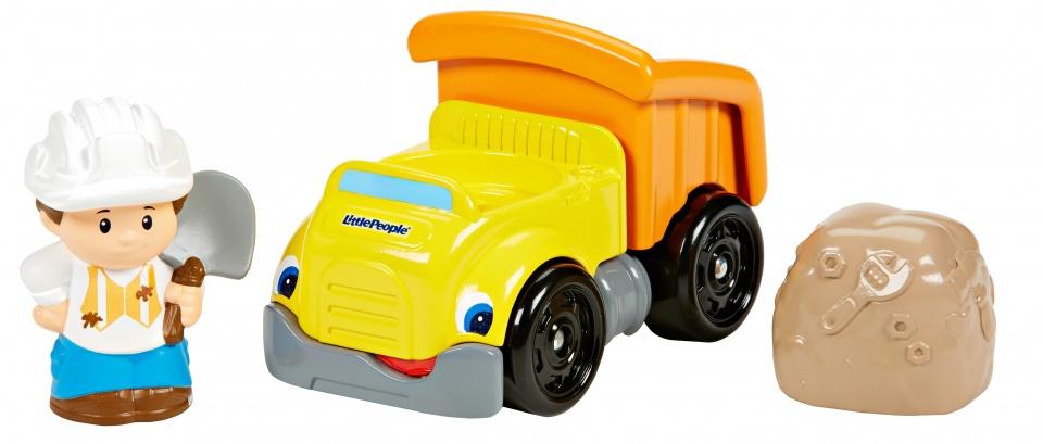 Fisher Price Little People mini voertuig taxi oranje 12 cm