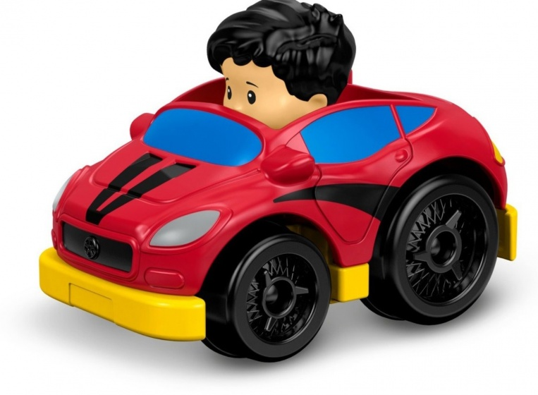 Fisher Price Little People Wheelies auto 6,5 cm rood (DRG99)