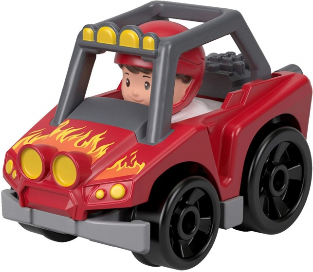 Fisher Price Little People Wheelies auto 6,5 cm rood (FHB95)