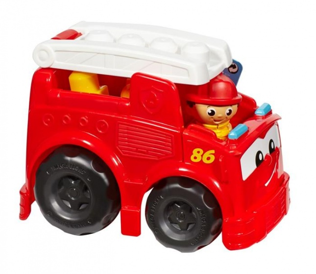Fisher Price Mega Bloks First Builders brandweerauto rood