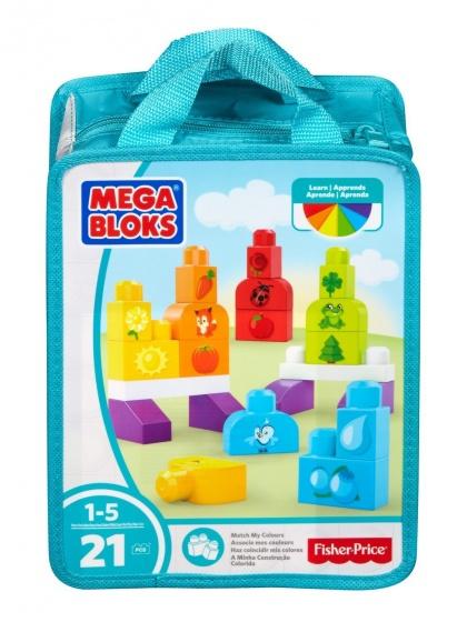 Fisher Price Mega Bloks kleuren herkennen 21 delig