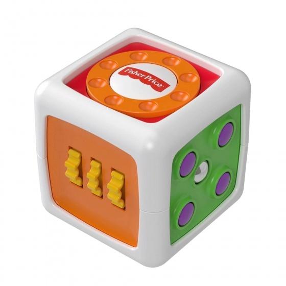 Fisher Price Mijn eerste Fidget kubus 8 cm wit