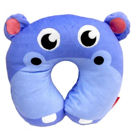 Fisher Price nekkussen 27 x 27 x 6 cm nijlpaard blauw kopen