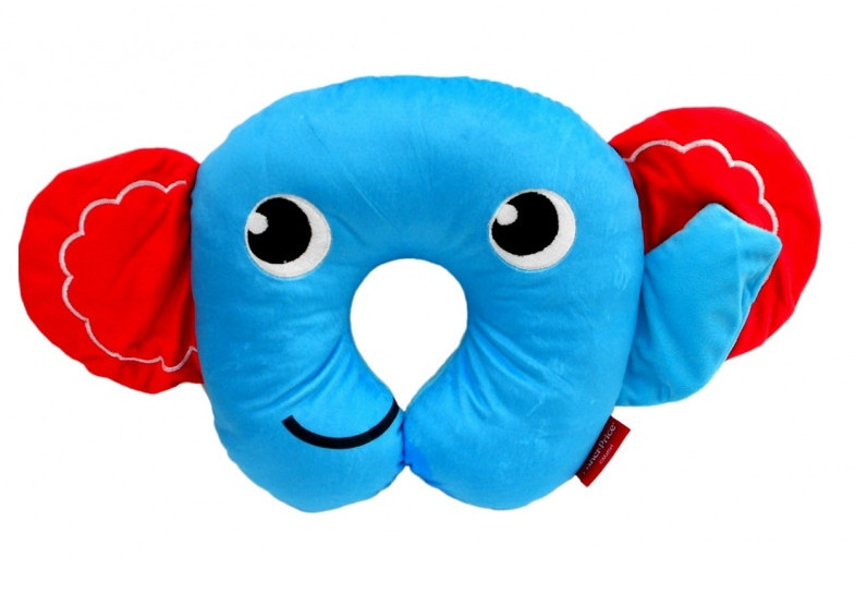Fisher Price nekkussen 27 x 27 x 6 cm olifant blauw kopen