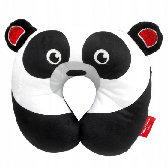 Fisher Price nekkussen 27 x 27 x 6 cm panda zwart/wit kopen