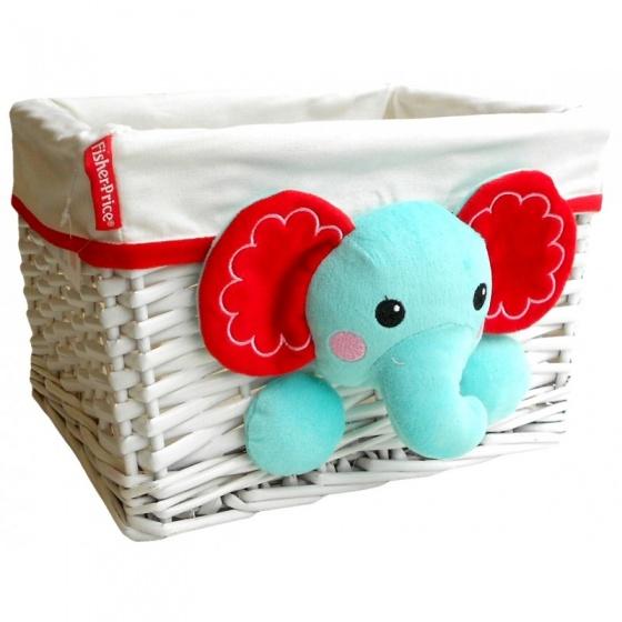 Fisher Price opbergbox olifant 15 liter wit/blauw