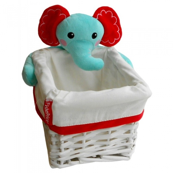 Fisher Price opbergbox olifant 4,16 liter wit/blauw