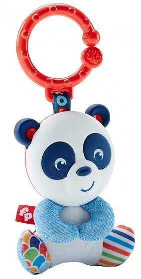 Fisher Price panda met spiegel grijpspeelgoed 18 cm