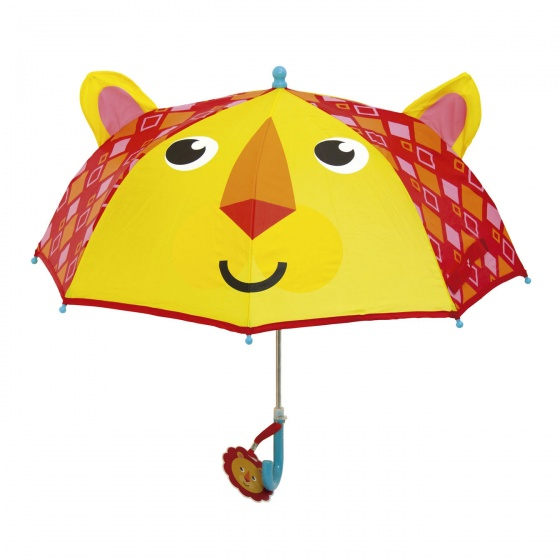 Fisher Price paraplu leeuw geel/rood 80 cm
