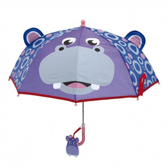Fisher Price paraplu Nijlpaard paars/blauw 80 cm