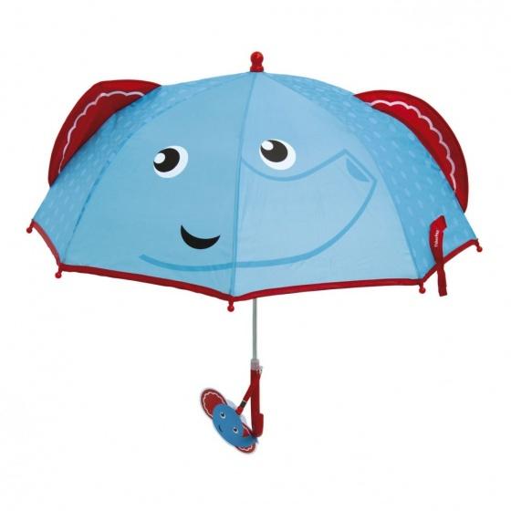 Fisher Price paraplu Olifant blauw/rood 80 cm
