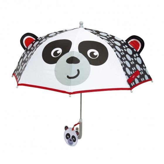 Fisher Price paraplu Panda zwart/wit 80 cm