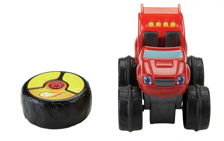 Fisher Price racende Blaze RC monstertruck rood 13 cm