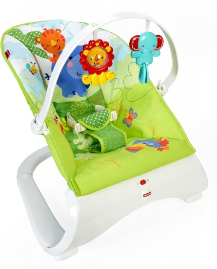 Fisher Price Rainforest wipstoel 42 x 54 cm wit/groen