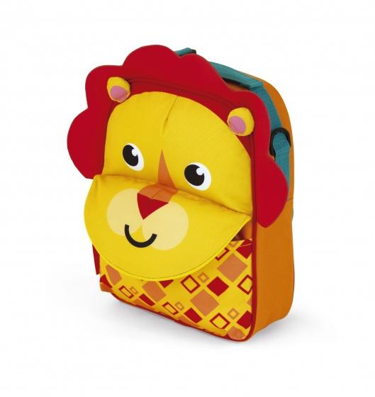 Fisher Price rugtas leeuw 28 cm oranje