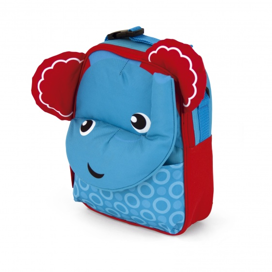 Fisher Price rugtas olifant 28 cm blauw/rood