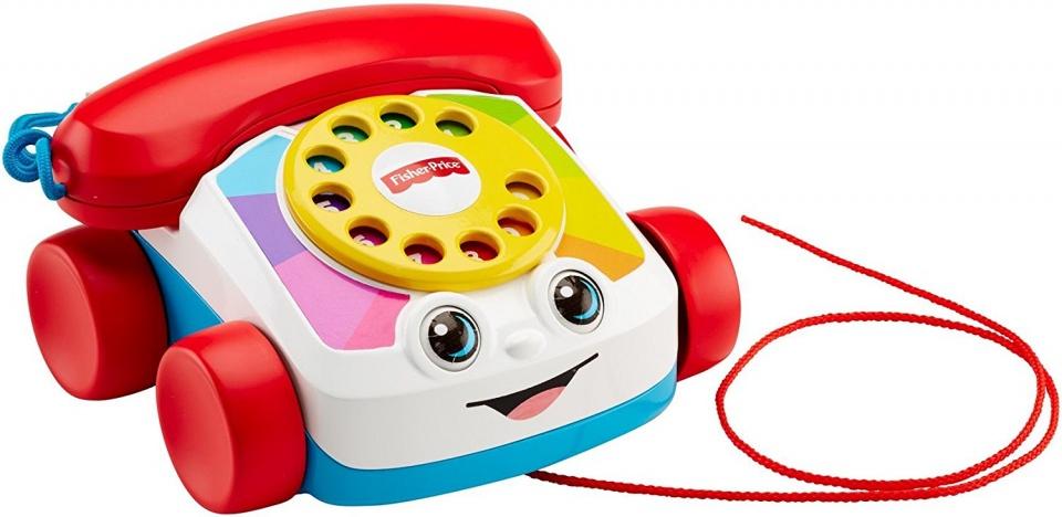 Fisher Price speeltelefoon 18 x 16 cm wit/rood