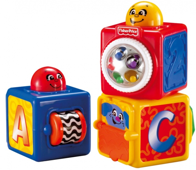 Fisher Price Stacking Action Blocks stapelblokken 3 delig