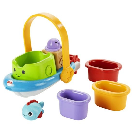 Fisher Price stapelboot voor in bad 30 cm 5 delig