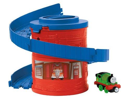 Fisher Price Take n Play Spiral Tower lanceerbaan rood