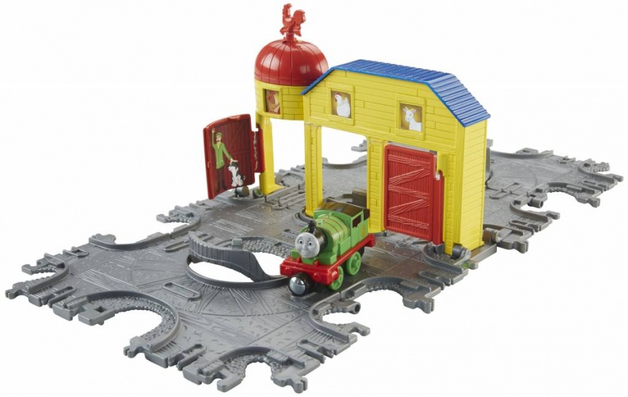 Fisher Price Take n Play Tile Tracks kindertrein groen