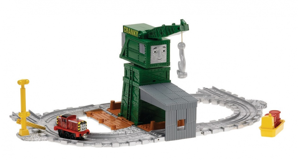 Fisher Price Thomas & Friends Take n Play Cranky in de haven
