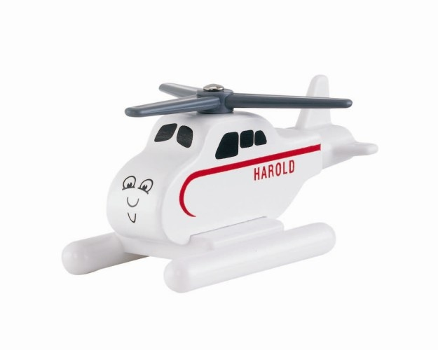Fisher Price helikopter Harold hout wit lengte 9 cm
