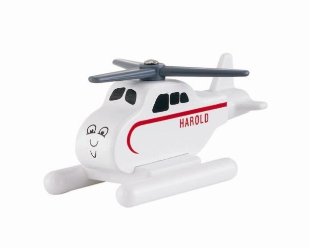 Fisher Price helikopter Harold hout wit lengte 9 cm