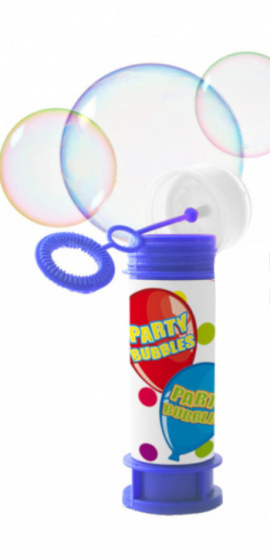 Folat bellenblaas Party Bubbels junior 60 ml blauw