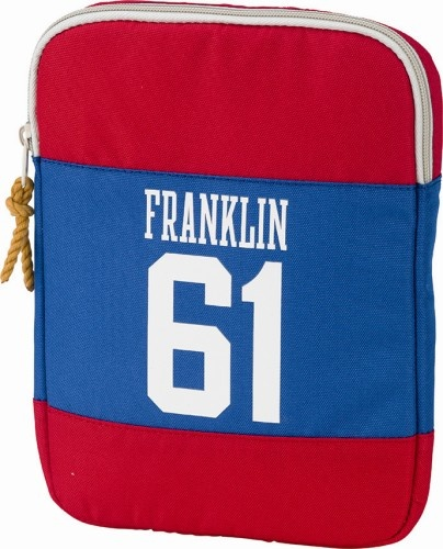 Franklin And Marshall iPad cover 28 cm blauw/rood