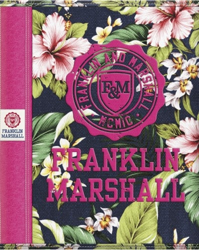 Franklin And Marshall Schrift A5 Lijn Mulit Roze