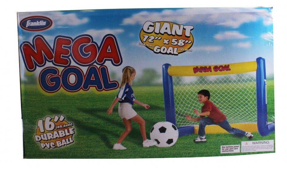 Franklin voetbaldoel Mega Soccer met bal junior PVC 189 cm
