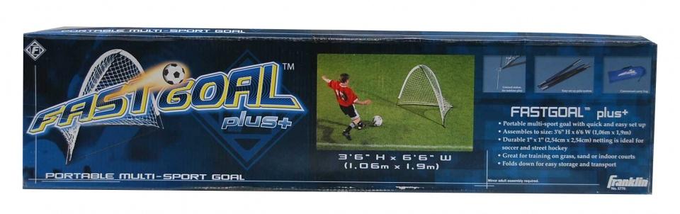 Franklin voetbaldoel Fast Goal Plus 109 cm staal wit per stuk