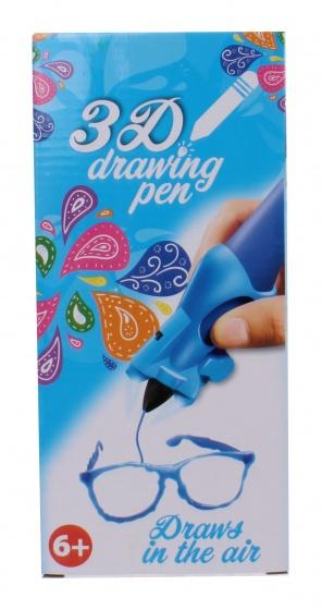 Free and Easy 3D tekenpen blauw 14 x 5,5 x 3,5 cm