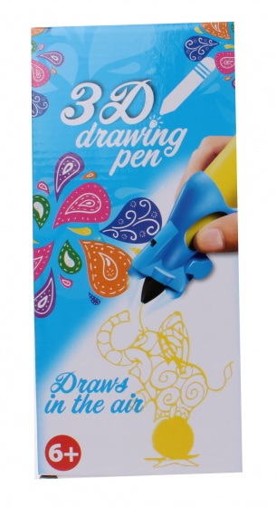 Free and Easy 3D tekenpen geel 14 x 5,5 x 3,5 cm