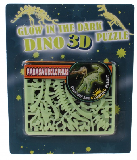 3D puzzel glow in the dark 17 cm parasaurolophus