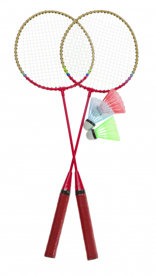 Free and Easy badmintonset rood 5 delig